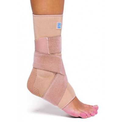 Elastic Ankle Brace With Siliokone and Splints AQTIVO SKIN