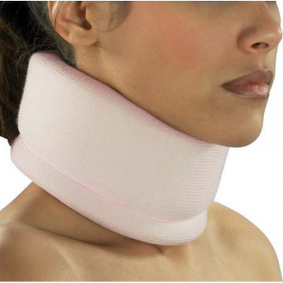 Cervical collar from soft elastic material