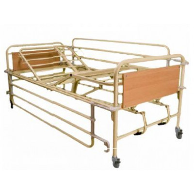 Hospital hospital bed with 2 cranks Hoist, fixed height.