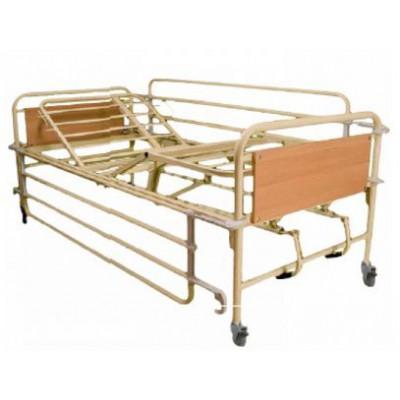 Νοσοκομειακό κρεβάτι νοσηλείας με 2 μανιβέλες  Πολύσπαστο, σταθερού ύψους.