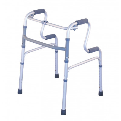 Folding walker with 2 levels handles